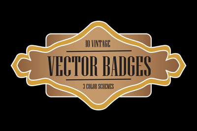 Vintage Badges- Vector
