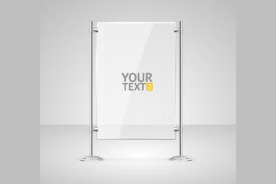 Glass Screen Banner. Vector
