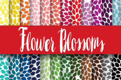 Flower Blossoms Digital Papers