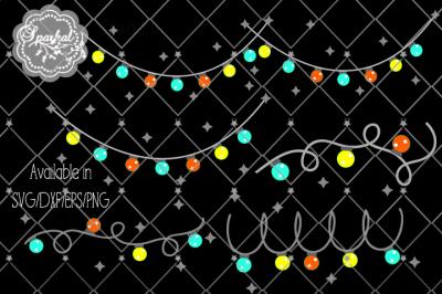 Christmas Lights - SVG/DXV/EPS/PNG