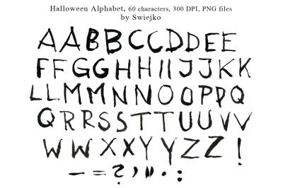 Halloween Alphabet, hand painted