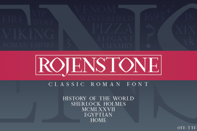 Rojenstone Font