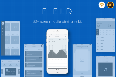 Field - Wireframe Kit