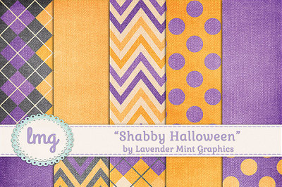 Shabby Halloween Digital Backgrounds