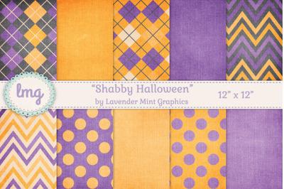 Shabby Halloween Digital Backgrounds