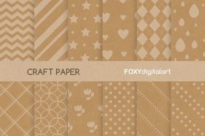 Digital craft paper with floral and geometry patterned background