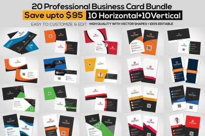 20 Business Card Template Bundle