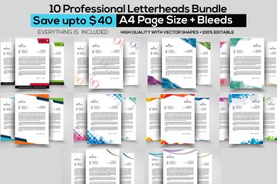10 Business Letterhead Bundle