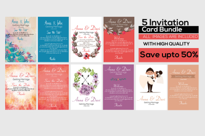 5 Invitation Flyer Bundle