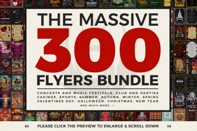 Massive 300 Flyers Bundle  98%OFF