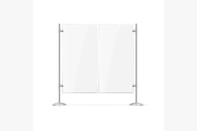 Double Blank Glass Door. Vector