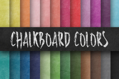 Colorful Chalkboard Paper Textures Digital Paper