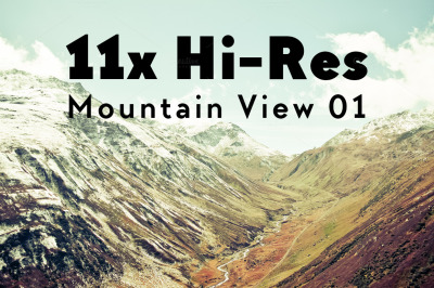 MOUNTAIN VIEW VOL. I - THE ALPS // 11x Hi-Res Images