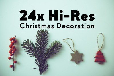HIPSTER XMAS DECORATION 24x Hi-Res Images