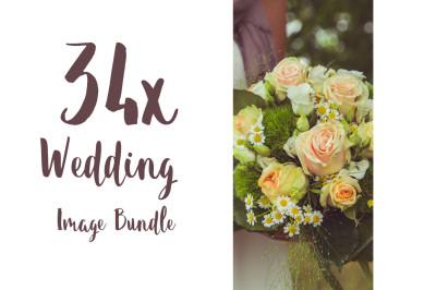 BIG WEDDING IMAGE BUNDLE 34x Hi-Res
