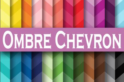 Ombre Chevron Digital Paper