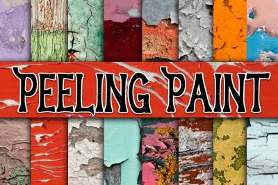 Peeling Paint Textures Digital Paper
