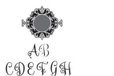 Monogram Font SVG File