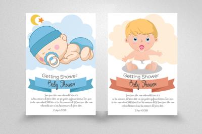 Baby Boy & Girl Shower Invitation