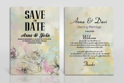 2 sided Invitation Card templates