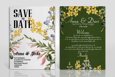 Flowery Invitation Flyer Bundle