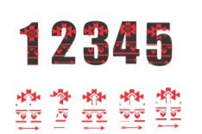 Aztec Numbers Svg File