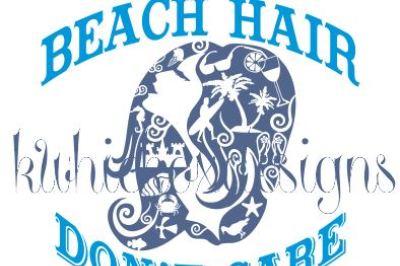 Beach Hair Svg File