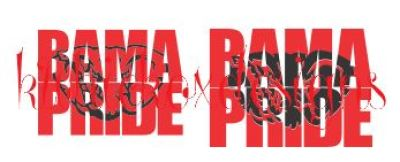 Bama Pride Knockout Font SVG File
