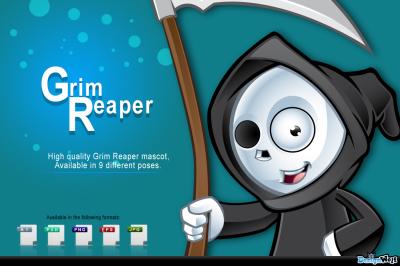Grim Reaper Mascot in 9 Poses
