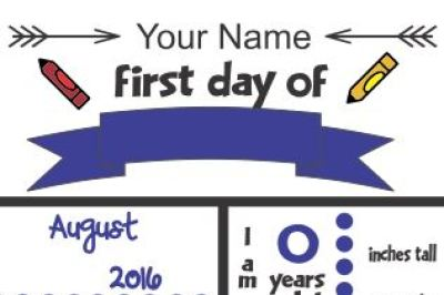 First Day Of School Chalkboard SVG File