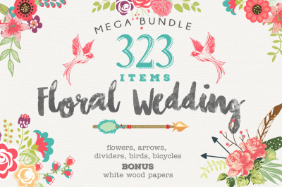 Wedding Floral Huge Collection - 323 elements