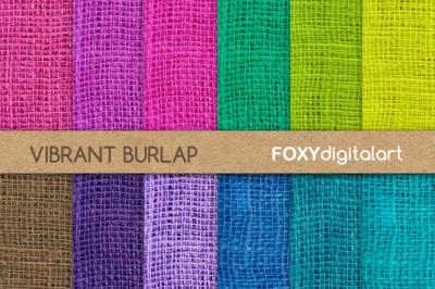 Bright Burlap Digital Scrapbook Paper Pack