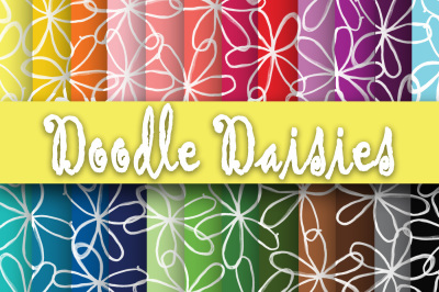 Doodle Daisies Digital Papers