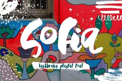 Sofia - Handdrawn Playful Font