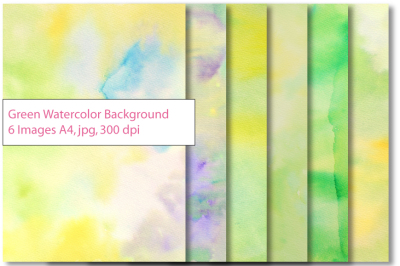 Watercolor background green yellow