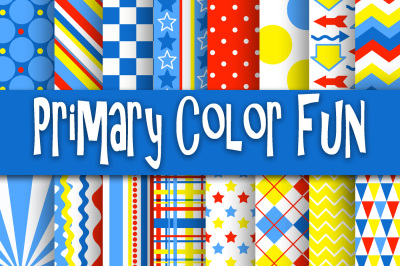 Primary Color Fun Digital Papers