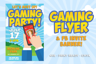 Gaming Party Flyer