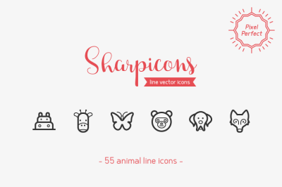 Animal Line Icons - Sharpicons