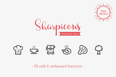 Cafe & Restaurant Line Icons