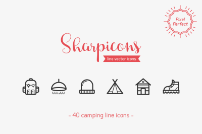 Camping Line Icons - Sharpicons