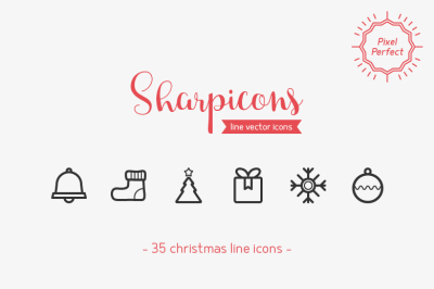 Christmas Line Icons - Sharpicons