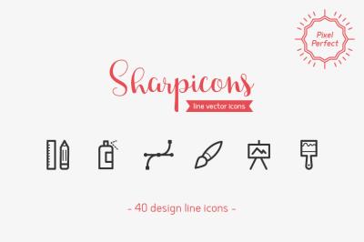 Design Line Icons - Sharpicons