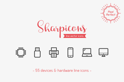 Devices & Hardware Line Icons
