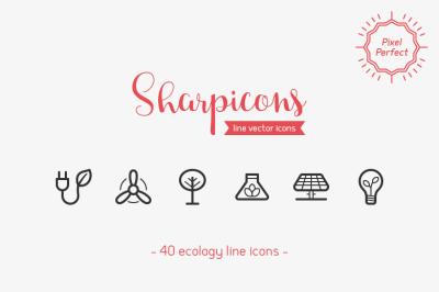 Ecology Line Icons - Sharpicons