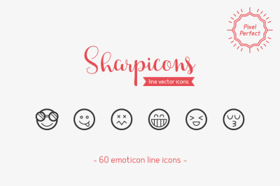 Emoticons Line Icons - Sharpicons