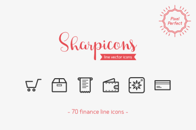 Finance Line Icons - Sharpicons