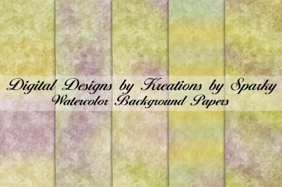 Watercolor Rainbow Pattern Digital Papers