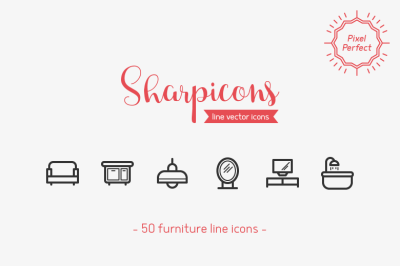 Furniture Line Icons - Sharpicons