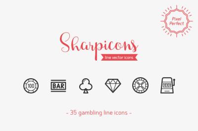 Gambling Line Icons - Sharpicons