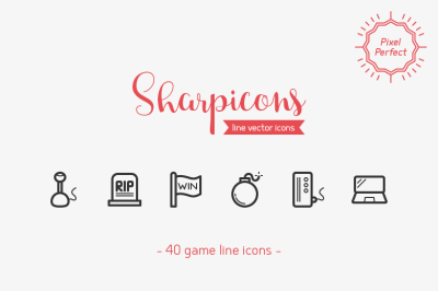 Game Line Icons - Sharpicons